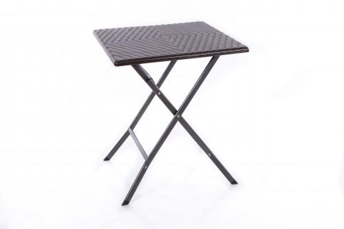 Saliekamais kvadrātveida galds ar rotangpalmas dizainu 62x62x74 cm