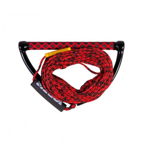 Верёвка для вейкборда с ручкой Jobe Prime Wake Combo, красная, 19.8 м