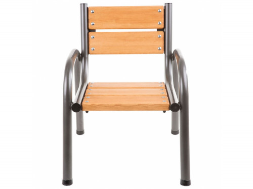 Garden chair with wooden seat, 65х74х86 cm