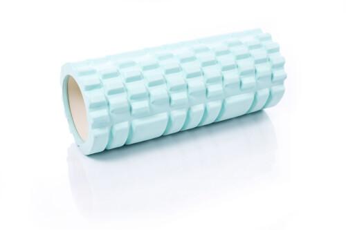 Ролик массажный для йоги 30x10cm, бирюзовый