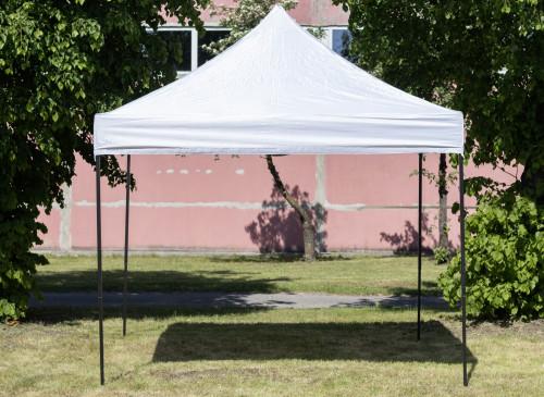 Pop Up portatīvs saliekamā telts ar jumtu 2.92x2.92 m, H sērijas tērauda ramis (popup tents, paviljons, telts)