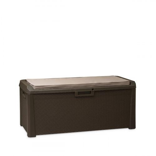 Pīta mantu glabāšanas kaste + sēdekļa spilvens, 148x72x64 cm, Toomax (Itālija)