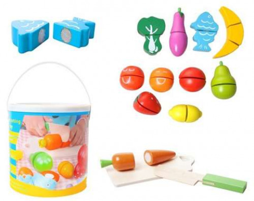 Wooden toy vegetables and fruits, 10765