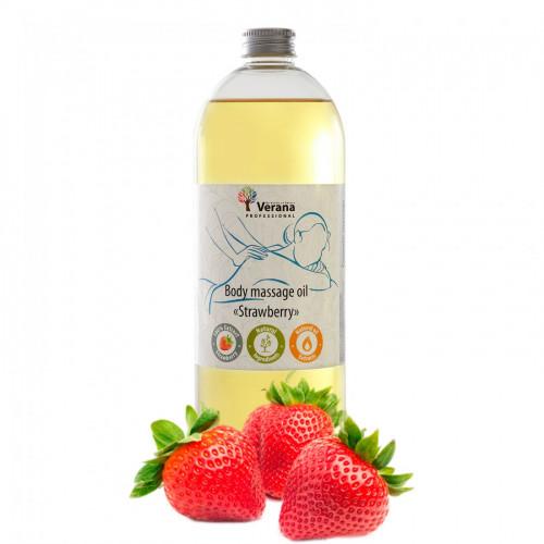 Masāžas eļļa ķermenim Verana Professional, Zemene 1 litrs