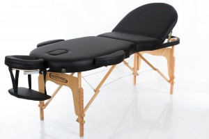 RESTPRO® VIP OVAL 3 BLACK Portable Massage Table