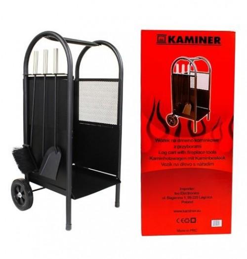 Firewood cart + Fireplace accessories