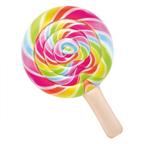 Inflatable Beach Mattress Lollipop, Intex 208x135 cm (58753)