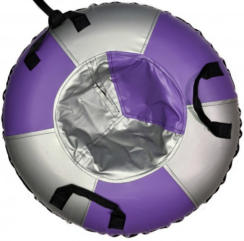 """Inflatable Sled Snow Tube """"Classic"""" (00195-95-Purple-Silver)"""