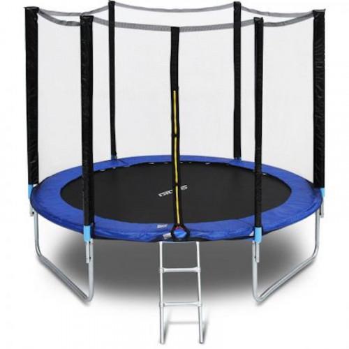 Batuts 244 cm ar drošības tīklu un kāpnēm 8ft (2.44 m)