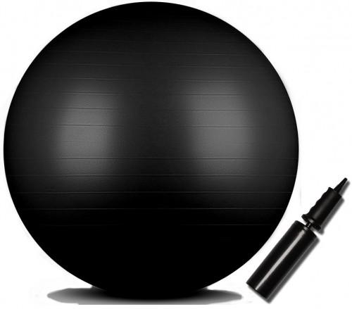 """Fitnesa vingrošanas bumba ''INDIGO"""", Anti-burst ar pumpi, d-85 cm, melns"""