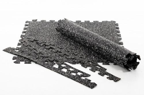 Gumijas grīdas segums sporta zālēm Puzzle 100x100 cm 1gab