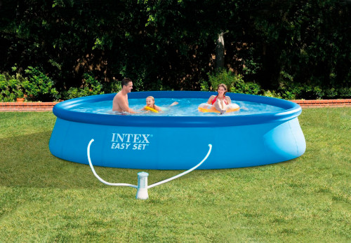 Baseins Intex Easy Set Pool 396х84 cm, ar filtra sūkni (28142)