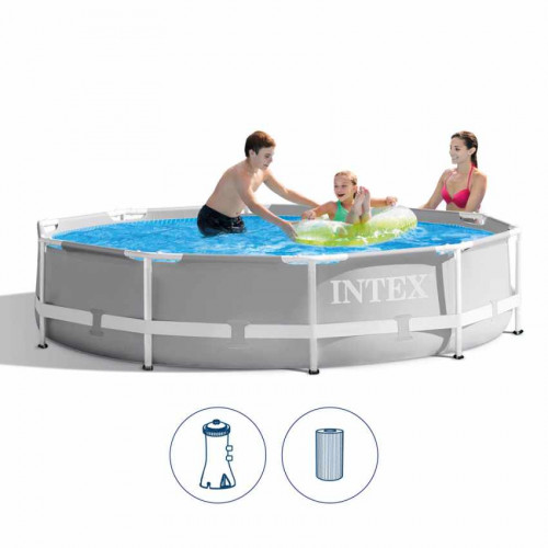 Каркасный бассейн Intex Prism Frame Premium Pool Set 305x76 см, с фильтрующим насосом (26702)