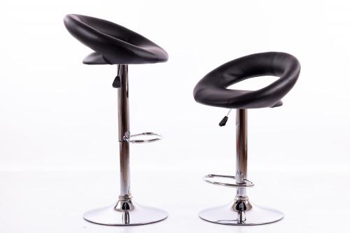 Melni bāra krēsli B02 - 2 gb.