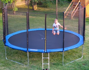 Trampoline 425 cm with safety net and ladder 14ft (4.25 m)