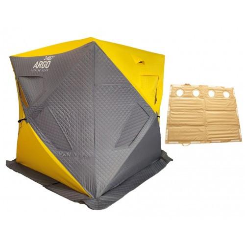 Ziemas telts ARGO Kubs TERMO ar PVC grīdu, 2.2х1.95х1.95 m
