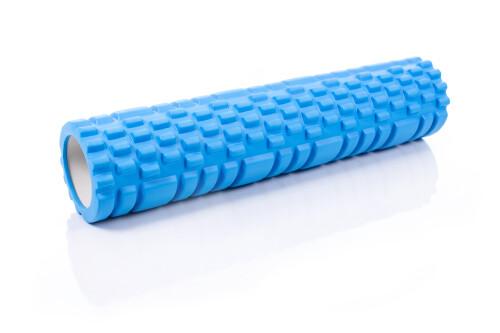 Ролик массажный для йоги Yoga Roller 14x62см, синий