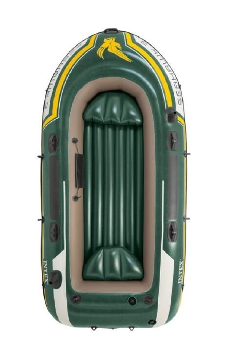 Inflatable rubber boat Intex 68380 SEAHAWK 3 BOAT SET (295х137x43)