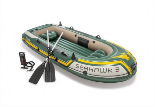 Надувная лодка Intex 68380 SEAHAWK 3 BOAT SET (295х137x43)