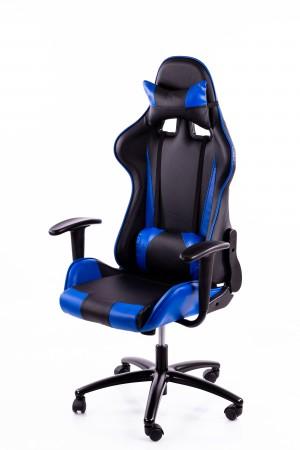 Spēļu datorkrēsls zili-melns BM2016 (gaming chair)