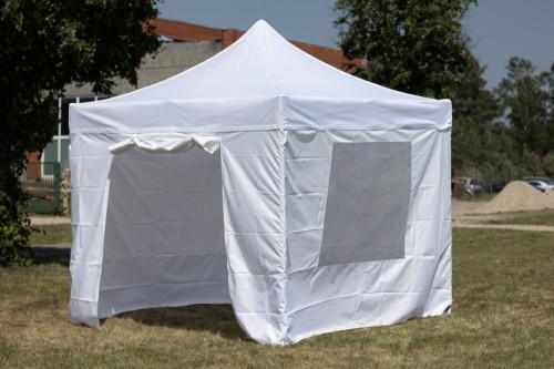 Pop Up portatīvs saliekamā telts ar sienām 3x3 m, N sērija - alumīnija rāmis 50x50x1.8 mm