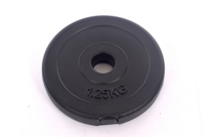 Vinyl weight disk for barbells and dumbbells (plate) 1,25kg (31,5mm)