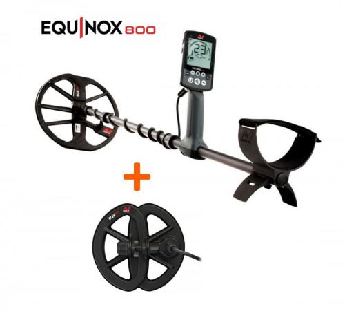 """Minelab Equinox 800 metāla detektors+Ūdensnecaurlaidīga spole 6"""" Equinox"""