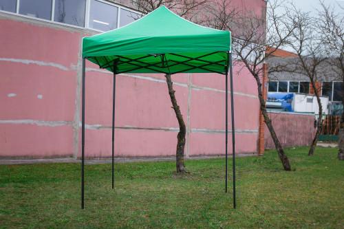 Pop Up Saliekamā nojume bez sienām 2x2 m, Zaļa, H sērija, tērauds (tents, paviljons, telts)