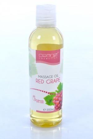 RED GRAPE Massage Oil Ceano Cosmetics 200ml