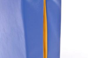 Mākslīgās ādas sporta paklājs 66x120cm zili-dzeltens