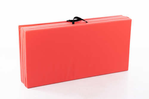 Saliekams sporta paklājs 122x244cm sarkans