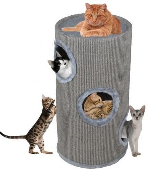 Kaķu māja nagu asināmais CAT005P-2, 70 cm, pelēka