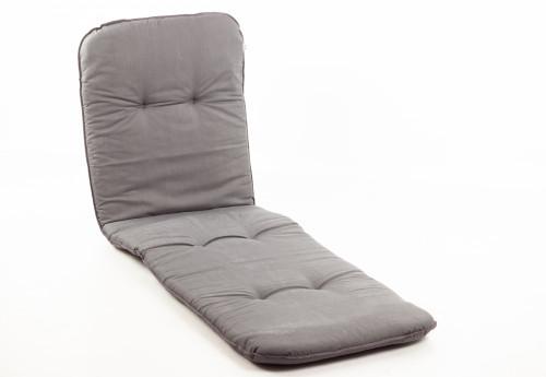 Spilvens dārza krēslam 192x60 cm, pelēks