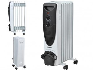 Oil radiator 1500W with thermostat, 7 sections (00002842)