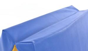 Mākslīgās ādas sporta paklājs 66x160cm zili-dzeltens