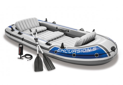 Piepūšamā laiva Intex EXCURSION 5 BOAT SET, 366x168x43 (68325)