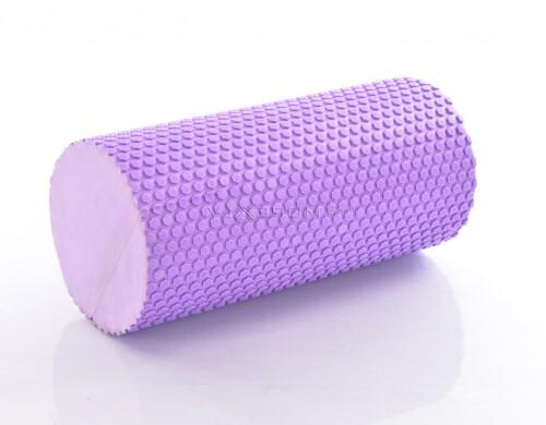 Ролик массажный для йоги 30x10см, фиолетовый (DY-FR-004)
