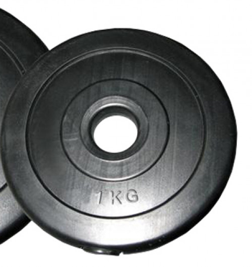 Weight disk for barbells and dumbbells (plate) 1kg (31.5 mm)