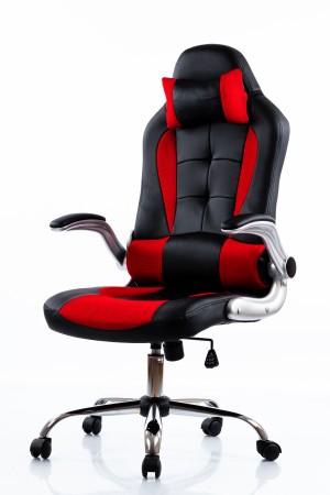 Spēļu datorkrēsls sarkani-melns BM2030