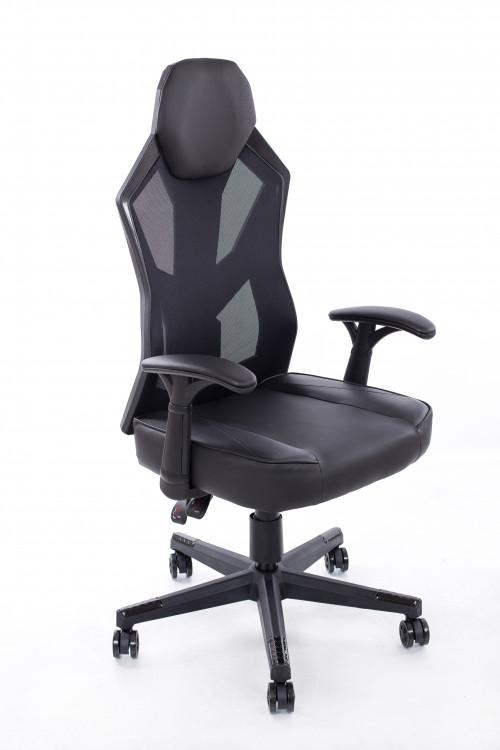 Spēļu krēsls melni pelēks BM1002