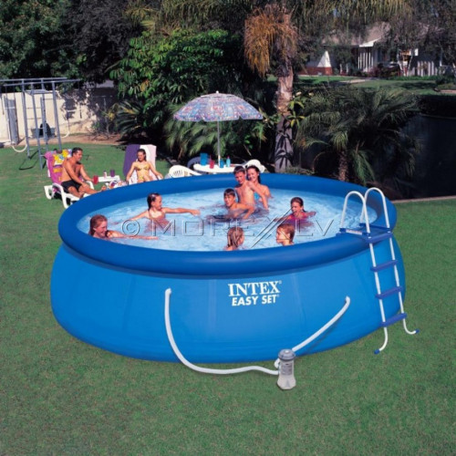 Baseins Intex Easy Set Pool 457x122 cm, ar filtra sūkni un aksesuāriem (26168)