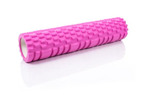 Ролик массажный для йоги Yoga Roller 14x62см, розовый
