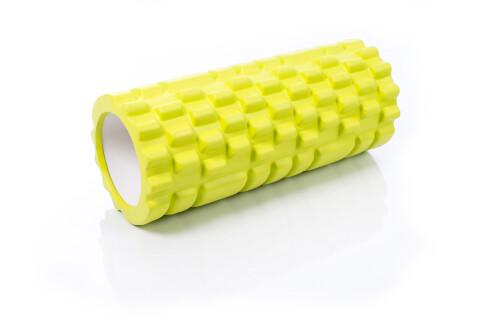 Ролик массажный для йоги Grid Roller 30x10cm, лаймовый зелёный