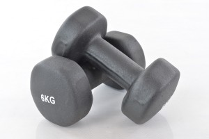 Two vinyl dumbbells 6kg