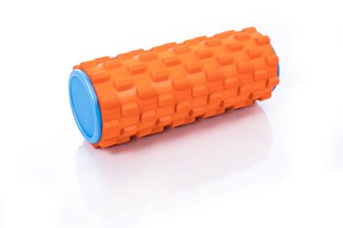 Ролик массажный для йоги  Grid Roller 30x10cm, оранжевый