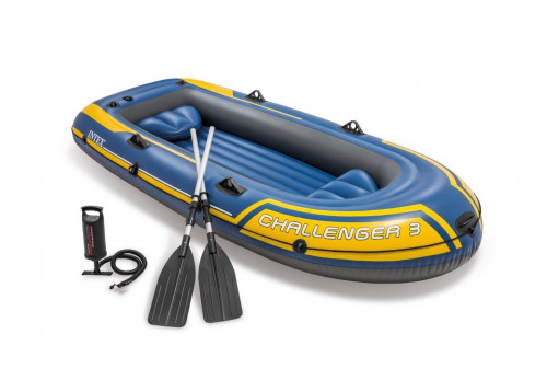 Inflatable three seat boat Intex 68370 NP Challenger 3 Set (295х137х43)