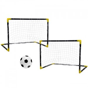 Kids Folding Football Goal 2 pcs. 91x61x46 cm