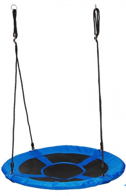 Šūpoles Just Fun ''Stārķa ligzda'', Ø 100 cm, zili-melnas