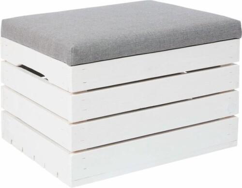 Koka mantu glabāšanas kaste ar sēdekļa spilvenu, 50x40x35 cm