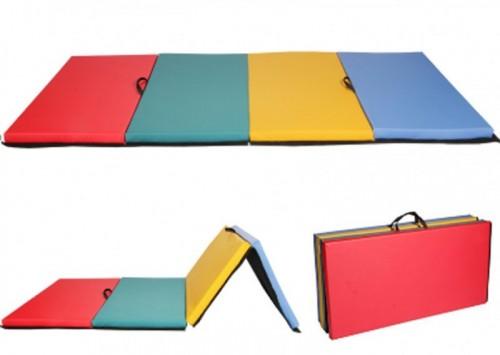 Спортивный мат четырехцветный YM-R4 116x232см